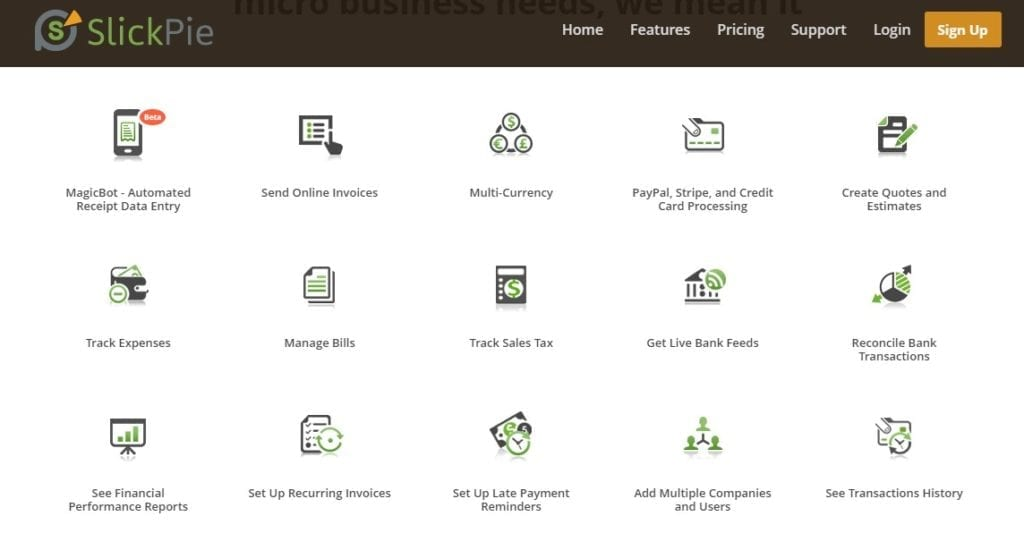 Slickpie Accounting App