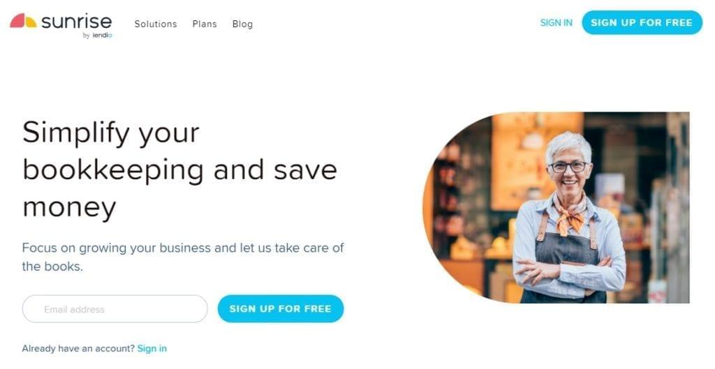 Sunrise accounting app