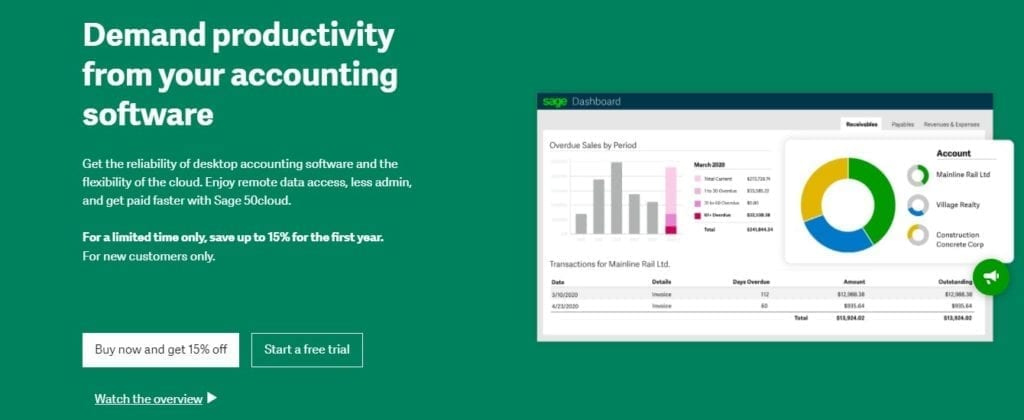 Sage 50Cloud Accounting App