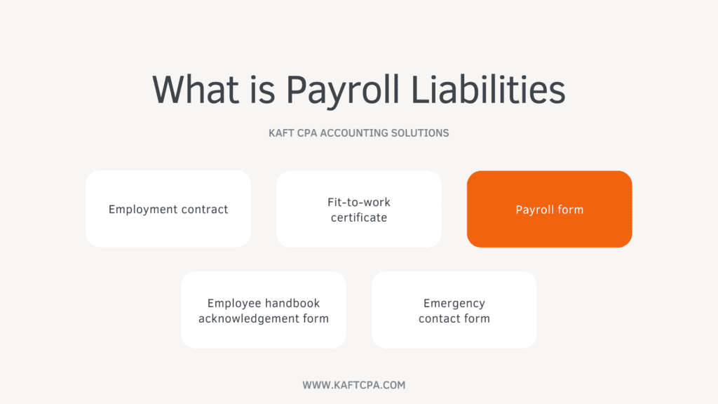 small business payroll liabilities