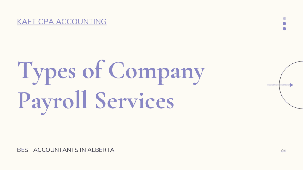 Types of Company Payroll Services